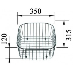 Корзина Blanco для посуды нерж. сталь 350x315x120 мм
