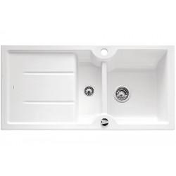 Кухонная мойка BLANCO IDESSA 6 S глянцевый белый с клапаном-автоматом