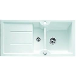 Кухонная мойка BLANCO IDESSA 6 S матовый белый с клапаном-автоматом