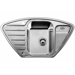 Кухонная мойка BLANCO LANTOS 9E-IF полированная нерж. сталь с клапаном-автоматом