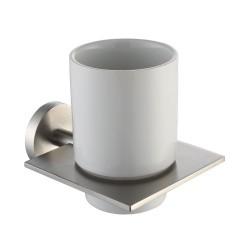Керамический стакан с настенным держателем Kraus Imperium KEA-12204 BN