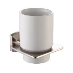 Керамический стакан с настенным держателем Kraus FORTIS KEA-13304 BN