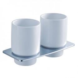 Пара керамических стаканов с настенным держателем Kraus Fortis KEA-13316 CH