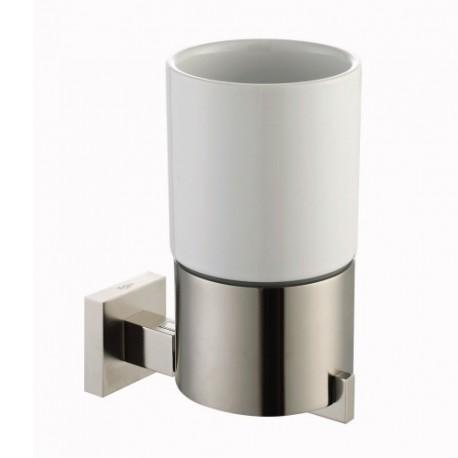 Керамический стакан с настенным держателем Kraus AURA KEA-14404 BN