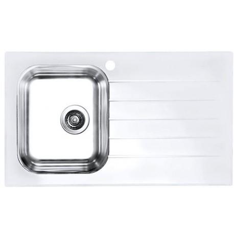 Кухонная мойка Alveus Glassix 10 белое стекло