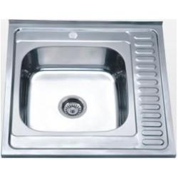Кухонная мойка Falanco 60x60 0,6 полированная