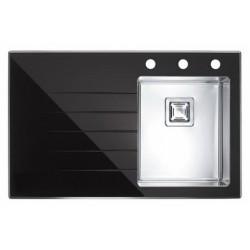 Кухонная мойка Alveus CRYSTALIX 10R черное стекло, правостороняя