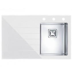Кухонная мойка Alveus CRYSTALIX 10R белое стекло, правостороняя