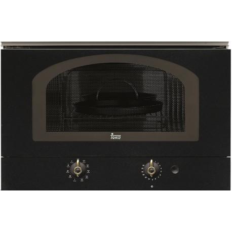"""Встраиваемая микроволновая печь Teka MWR 22 BI (Rustica), черный, ручки """"латунь"""""""