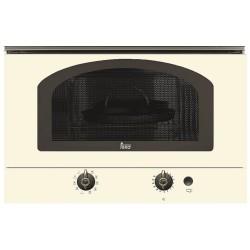 """Встраиваемая микроволновая печь Teka MWR 22 BI (Rustica), ваниль, ручки """"латунь"""""""