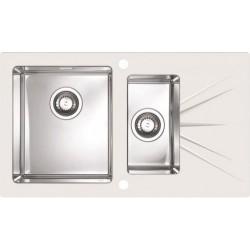 Кухонная мойка Alveus Karat 20L white белое стекло
