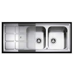 Кухонная мойка Teka Cuadro 2B 1D микродекор