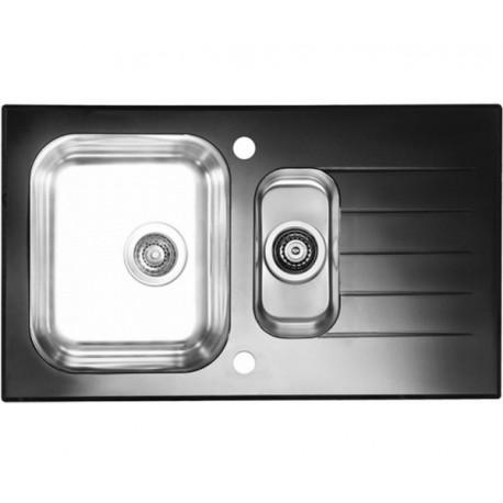 Кухонная мойка Alveus Glassix 20 черное стекло