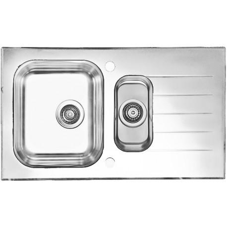 Кухонная мойка Alveus Glassix 20 белое стекло