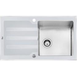 Кухонная мойка Teka LUX 1B 1D 86 REV белое стекло