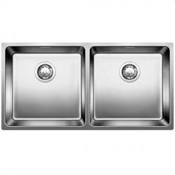 Кухонная мойка BLANCO ANDANO 400/400-U зеркальная с клапаном-автоматом