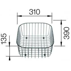 Корзина Blanco для посуды с держателями нерж. сталь 390x310x135 мм
