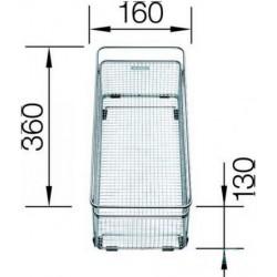 Корзина Blanco для посуды с держателем нерж.сталь 360х160 мм