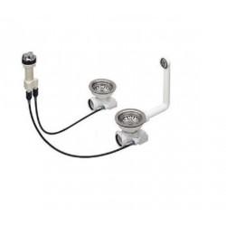 Набор доукомплектации Blanco клапаном-автоматом хром 222440