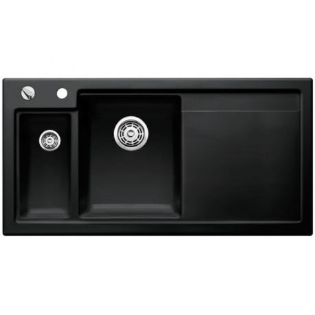 Кухонная мойка BLANCO AXON II 6 S (чаша слева) черный с клапаном-автоматом