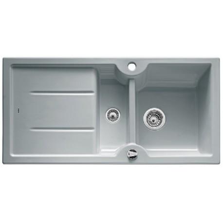 Кухонная мойка BLANCO IDESSA 6 S серый алюминий с клапаном-автоматом