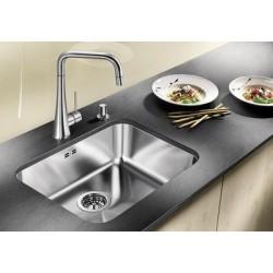 Кухонная мойка BLANCO SUPRA 450-U нерж.сталь полированная с корзинчатым вентилем