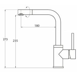 Кухонный смеситель AQUAsanita Forte 5553-202 алюметаллик