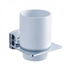 Керамический стакан с настенным держателем Kraus FORTIS KEA-13304 CH