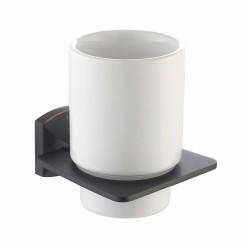 Керамический стакан с настенным держателем Kraus FORTIS KEA-13304 ORB