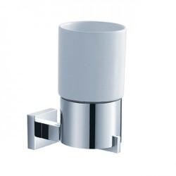 Керамический стакан с настенным держателем Kraus AURA KEA-14404 CH