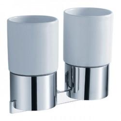 Пара керамических стаканов с настенным держателем Kraus AURA KEA-14416 CH