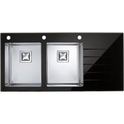 Кухонная мойка Alveus Crystalix 30L черное стекло,