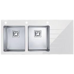 Кухонная мойка Alveus Crystalix 30L белое стекло,
