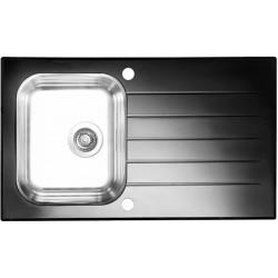 Кухонная мойка Alveus Glassix 10 черное стекло