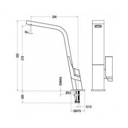 Смеситель кухонный TEKA Icon H IC 915 белый