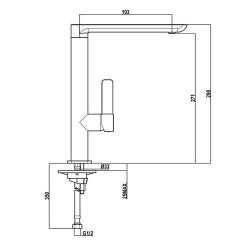Смеситель кухонный TEKA Formentera H (FO 915) хром