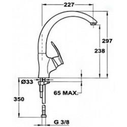 Смеситель кухонный TEKA MC-10 Plus HC топаз