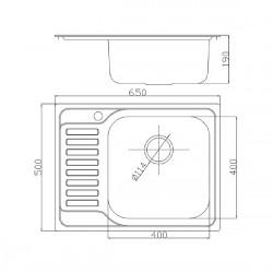 Кухонная мойка Fabiano/Ula 650х500 микродекор