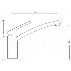 Смеситель кухонный SCHOCK SC90 carbonium 90