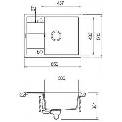 Гранитная мойка Schock Diy D100 S nero 13