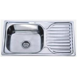 Кухонная мойка Falanco 76х42 полированная 0,8