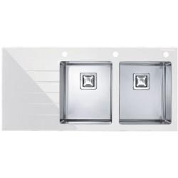 Кухонная мойка Alveus Crystalix 30R белое стекло,
