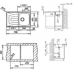 Кухонная мойка Teka Universo 1B 1D 79 микродекор