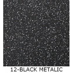 Гранитная мойка Marmorin Voga 540х408 black metallic 12