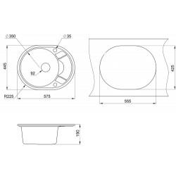 Кухонная мойка Minola MOG 1145-58 классик