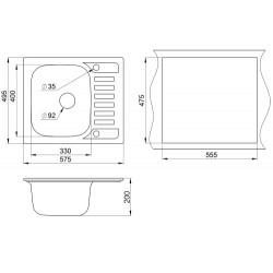 Кухонная мойка Minola MPG 1145-58 антик
