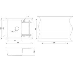 Кухонная мойка Minola MPG 1150-65 графит