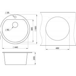 Кухонная мойка Minola MRG 1045-50 антик
