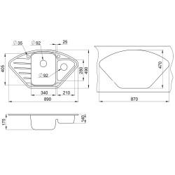 Кухонная мойка Minola MTG 5180-89 графит