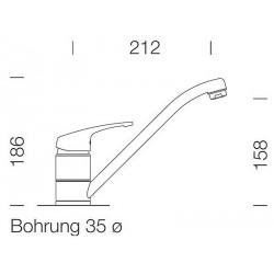 Смеситель кухонный SCHOCK SC40 Alpina-07 (56300007) хром/белый